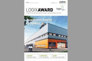 Cover des LOGISTIK HEUTE-Supplements mit dem Lager des Intralogistikanbieters Still in Hamburg: Für die Anlage bekam der Immobilienentwickler ECE Projektmanagement GmbH den Logix Award 2017.