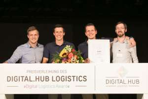 Sieger des Digital Logistics Awards 2017: MotionMiners aus Dortmund. (Foto: Digital.Hub Logistics)