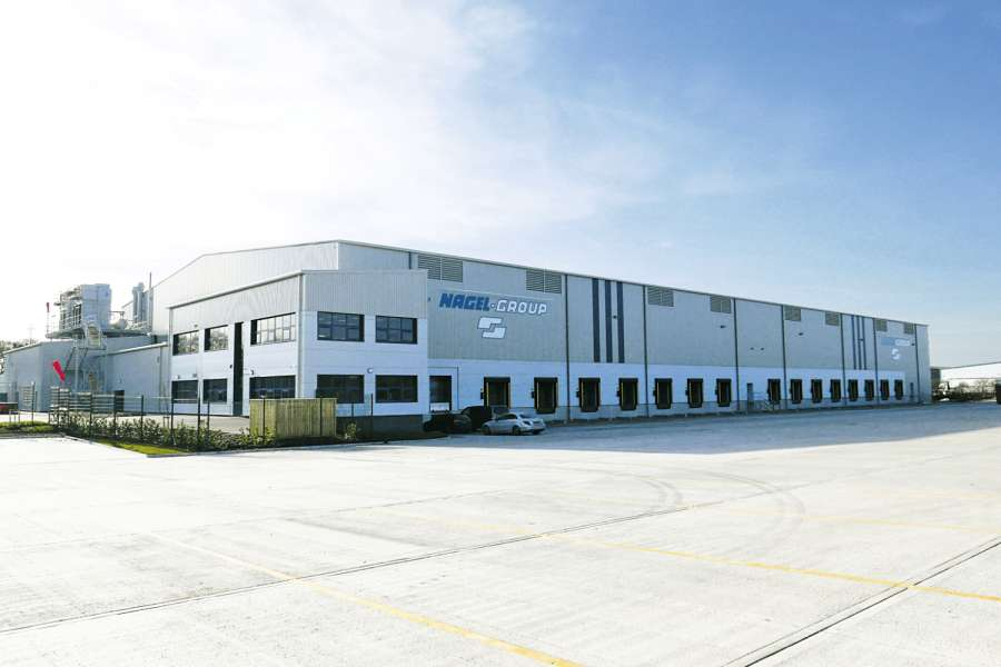 Das Logistikzentrum in Liverpool hat zwei Temperaturzonen. Bild: Nagel-Group