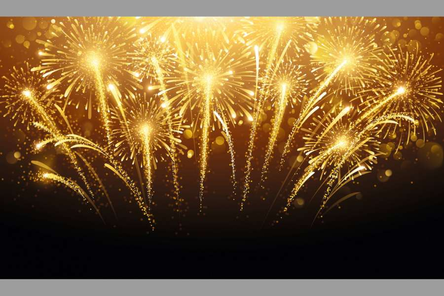Holiday fireworks on dark background. Vector illustration Bild: Fotolia_Maksim Pasko