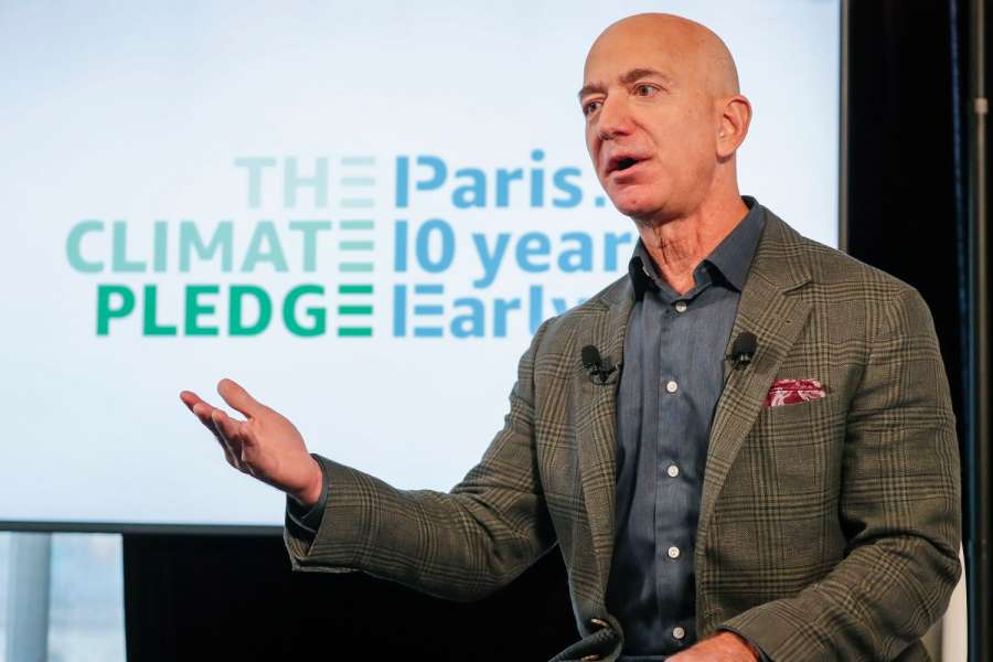 Amazon-Gründer Jeff Bezos stellte die Initiative Climate Pledge anlässlich einer Pressekonferenz in Washington D.C., USA, vor. (Foto: Amazon)