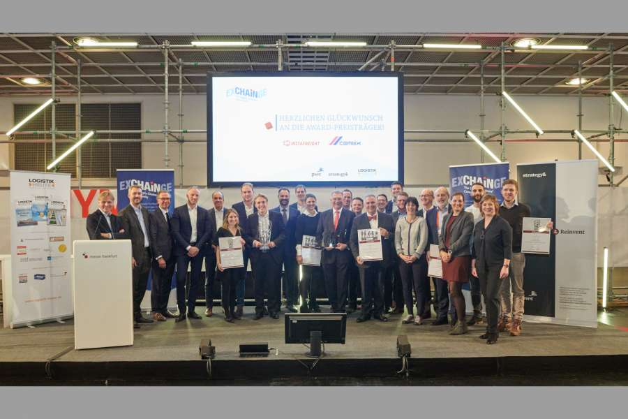 Ausgezeichnete SCM-Projekte: Am 21. November wurde Cemex mit dem Supply Chain Management Award 2018 ausgezeichnet. InstraFreight bekam den Smart Supply Chain Solution Award 2018 in Frankfurt verliehen. Foto: Andre Baschlakow