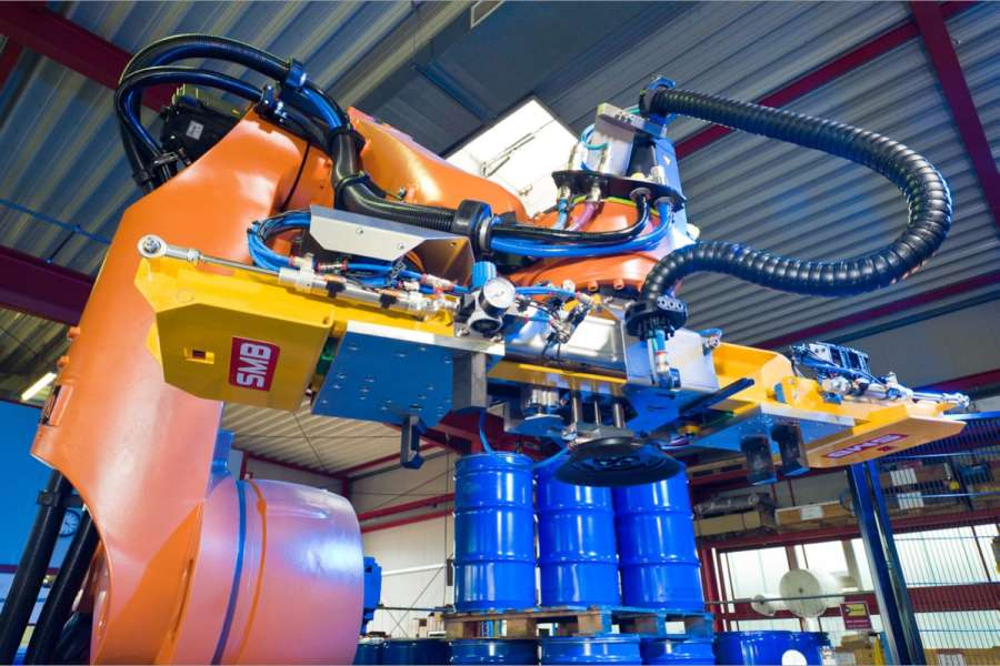 Ein Palettierroboter von SMB. (Foto: SMB International)