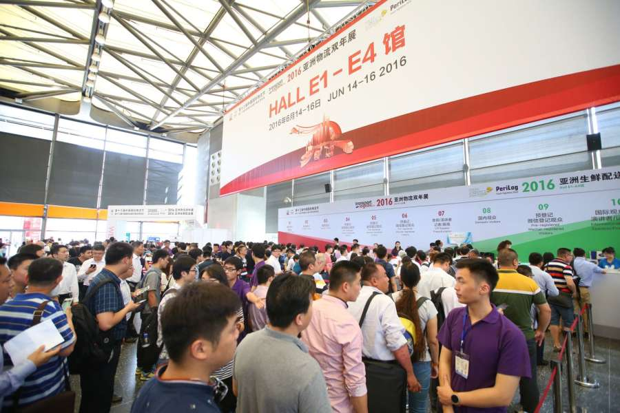 Die transport logistic China 2016 fand vom 14. bis 16. Juni in Shanghai statt. (Foto: transport logistic China/ Messe München)