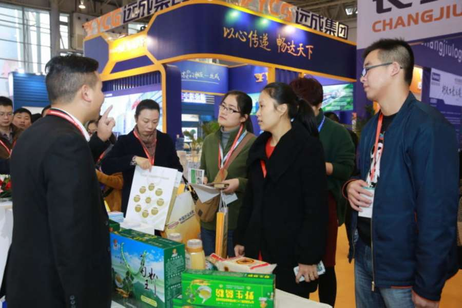 Besucher auf der China International Transportation & Logistics Expo 2015 im westchinesischen Chengdu. (Foto: CITLE)