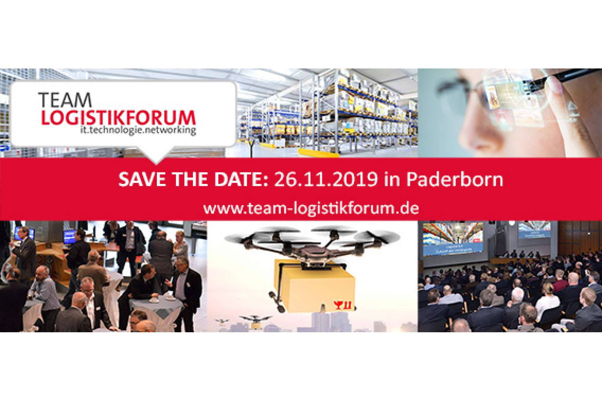 Das 20. TEAMLogistikforum steht an: am 26.11.2019 in Paderborn