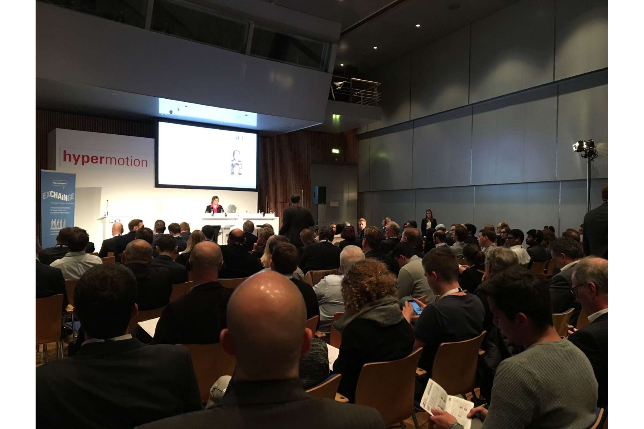 Gut besucht: Blick in den Saal der Logistics Digital Conference.Messe Frankfurt