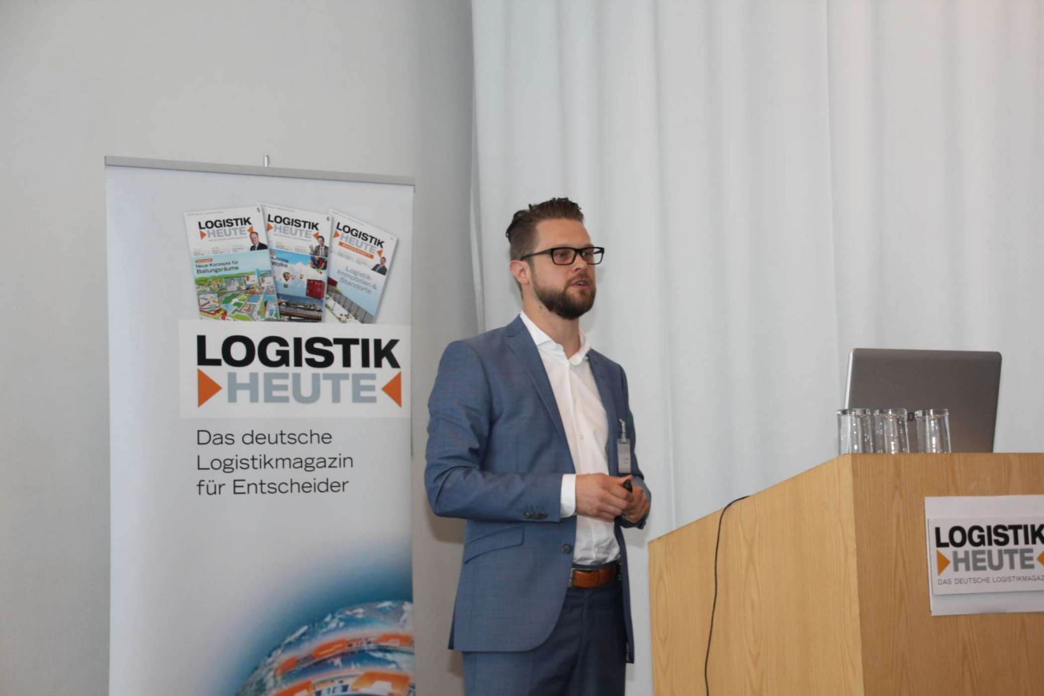 "Tim Sadowski, Product Manager Traceability bei der Standardisierungsorganisation GS1 Germany GmbH, stellte die Rückverfolgbarkeits-Lösung ""fTrace"" vor. Dr. Petra Seebauer"