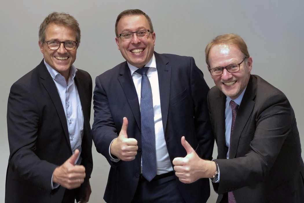 Sie sind die Geschäftsführer der Abels & Kemmner GmbH Supply Chain Engineers (v.l.): Dr. Bernd Reineke, Hendrik Ungerechts und Prof. Dr. Götz-Andreas Kemmner. (Foto: Abels & Kemmner)